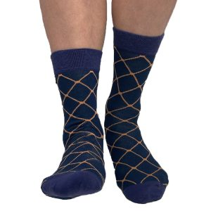 Blue fashion socks
