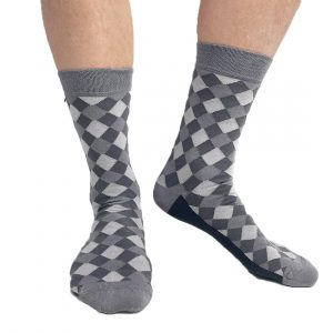 Checkered grey socks