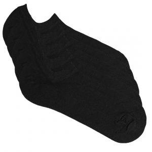 5 pair of black sneaker socks from Tag Socks